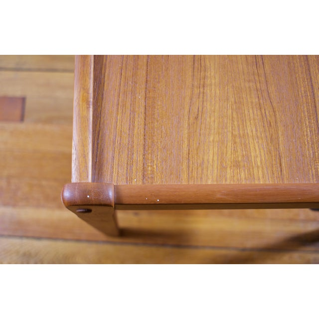 Mid-Century Furbo Danish Teak Side Table With Magazine Holder - Image 6 of 10