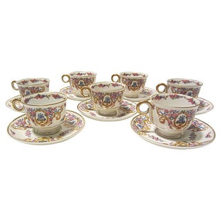 Haviland French Cups & Saucers - Set of 7