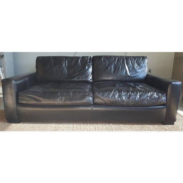 Restoration Hardware Leather Maxwell Sofa Chairish - Maxwell sofa