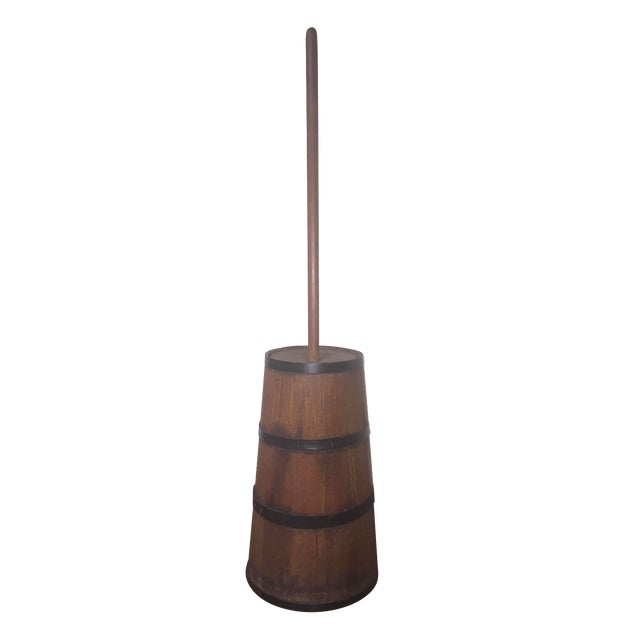 Image of Antique Wooden Butter Churn