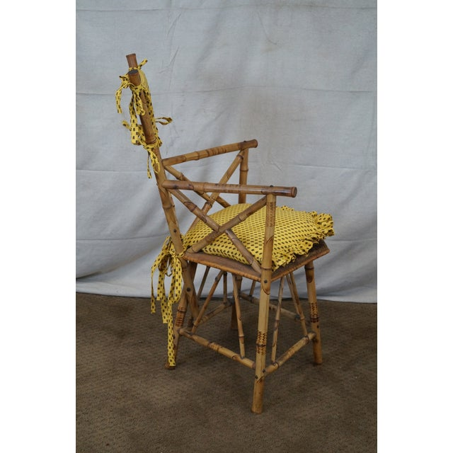 Antique 19th C. Victorian Bamboo Corner Chair - Image 3 of 10