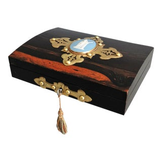 Antique English Coromandel Playing Cards Box