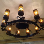 Image of Spanish Revival Wrought Iron Chandelier