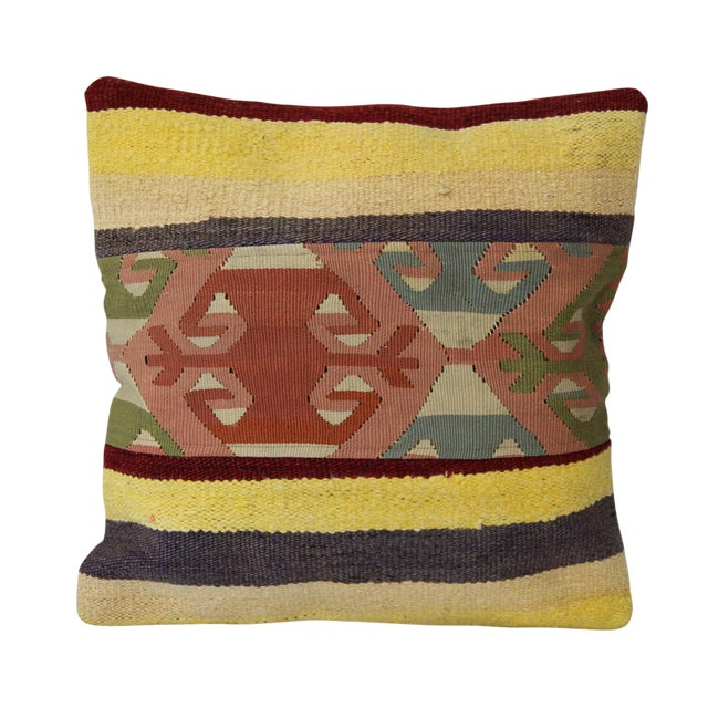 Handmade Vintage Throw Pillows : Vintage Handmade Kilim Pillow Cover Chairish
