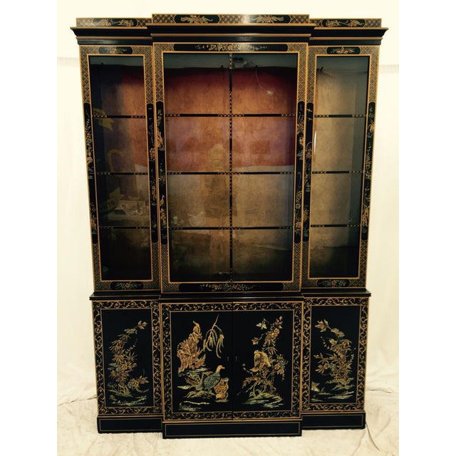 Vintage 1980s Drexel Heritage Asian Chinoiserie China Cabinet - Image 2 of 11