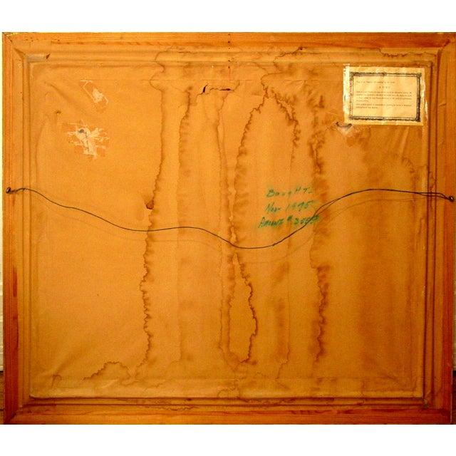 Image of A. Biro Mid-Century Abstract Still Life Painting