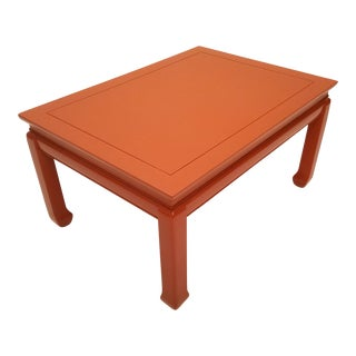 Orange Lacquered Low Coffee Table