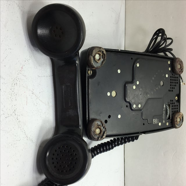 Vintage 1950s Black Rotary Dial Telephone - Image 7 of 11