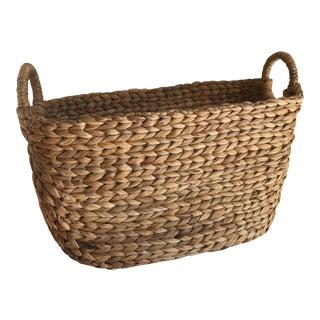 Boho Seagrass Rope Basket