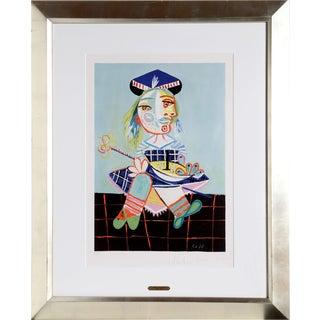 """Pablo Picasso """"La Fille De l'Artiste a Deux Ans Et Demi Avec Un Bateau"""" Lithograph"""
