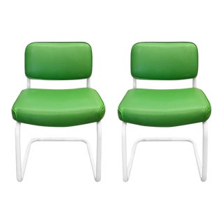 ChromCraft Cantilever Chairs - A Pair