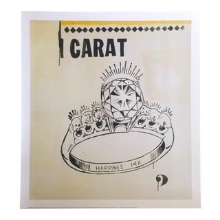 "Andy Warhol Pop Art Lithograph Print ""1 Carat Happiness"", 1961"