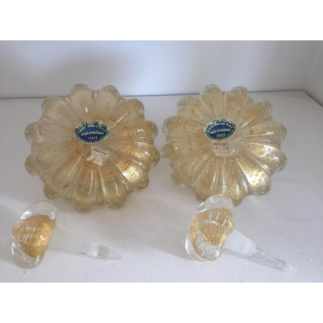 Venetian Murano Glass Perfume Bottles - A Pair - Image 4 of 4