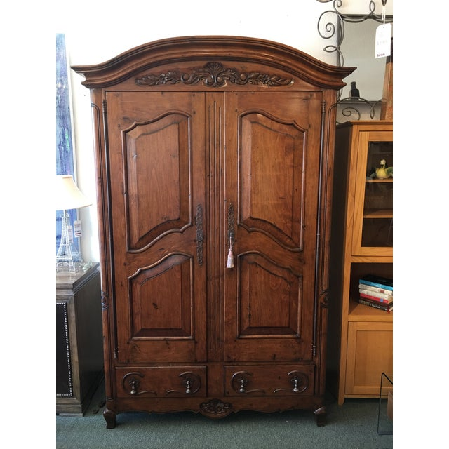 French Provincial Style Media Armoire Cabinet - Image 2 of 11