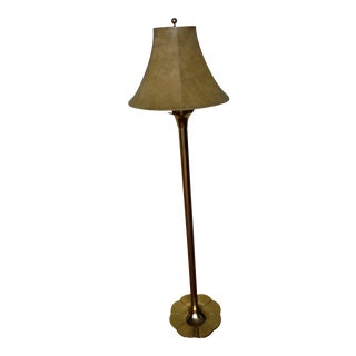 "Stiffel Mid-Century Modern ""Lily and Lotus"" Brass Floor Lamp"