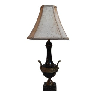 Marble and Bronze Urn Lamp