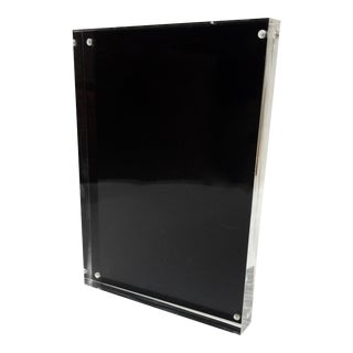 Black Metal & Lucite Standing Photo Frame