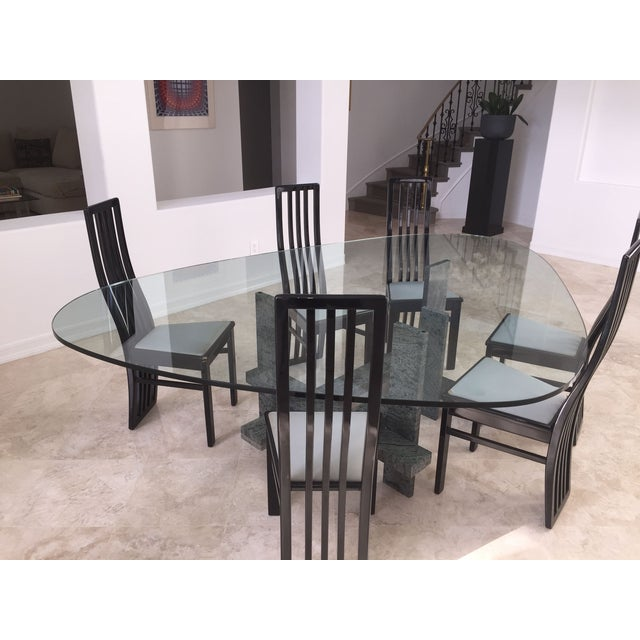 Willy Vallez Granite Dining Set Chairish