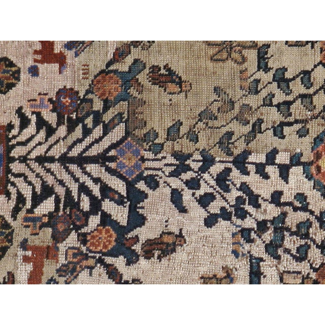 """Antique Persian Distressed Rug - 3'9"""" X 4'3"""" - Image 3 of 5"""