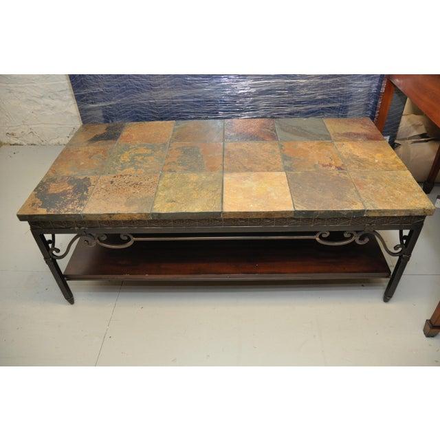 Natural Slate Tile Coffee Table