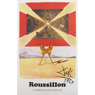 1969 Salvador Dali SNCF Roussillon France Travel Poster