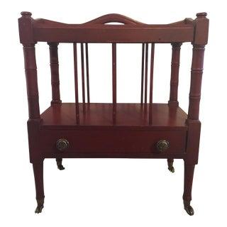 Schott Furniture Mahogany Magazine Stand