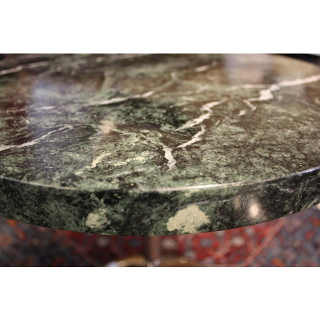 Zographos Side Table with Green Marble Top - Image 4 of 5