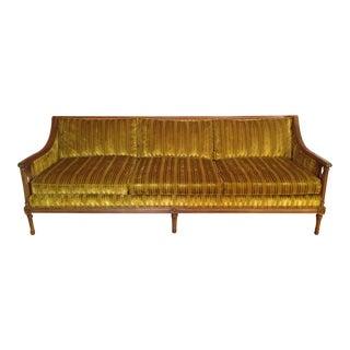 Mid-Century Velvet Sofa