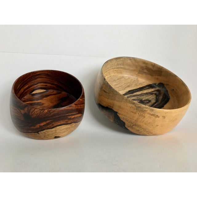 P. S. Miner Sculptural Hand Turned Wooden Bowls- Set of 2 - Image 2 of 9