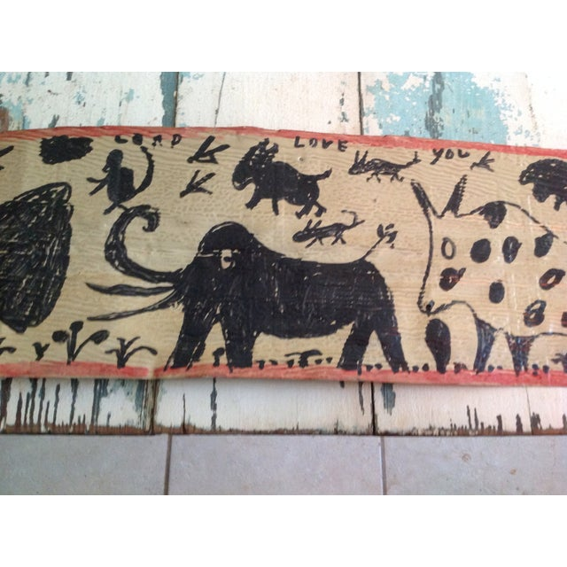 Vintage Folk Art Primitive Native Painting - Image 5 of 9