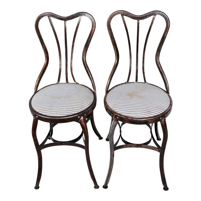 Vintage Toledo Industrial Chairs - A Pair - Image 1 of 8