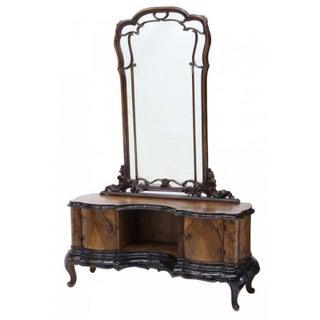 Venetian Louis XV Style Walnut Vanity