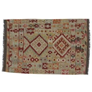 Modern Afghani Tribal Kilim Rug - 3'2 x 4'10