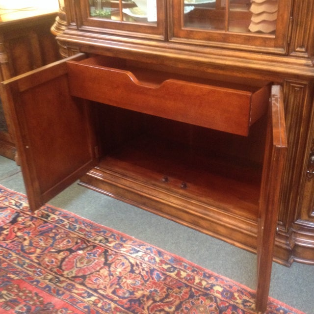 Arched Sideboard With Lighted Hutch - Image 7 of 9