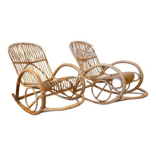 Franco Albini Style Rockers - a Pair