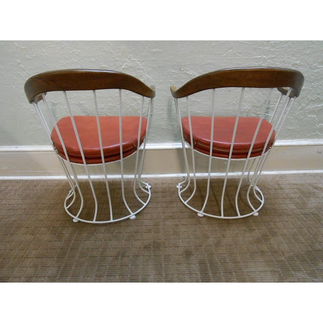 Mid-Century Modern Iron Based Dining Set - Image 9 of 10