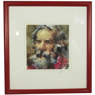 Old Man with Beard Portrait