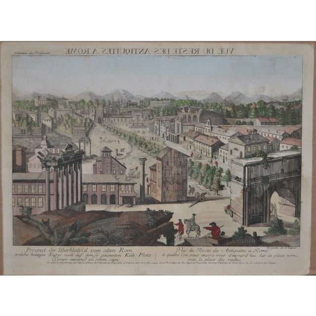 """Antique """"View of Rome"""" Engraving 19th Century - Image 2 of 11"""