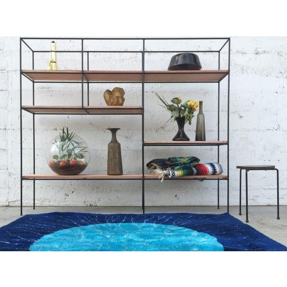 Muriel Coleman Style Steel & Wood Wall Unit - Image 3 of 6