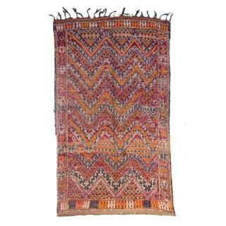 "Vintage Beni M'Guild Moroccan Berber Rug - 5'11"" X 9'9"""