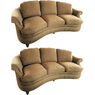 Hancock & Moore Curved Sofas - a Pair