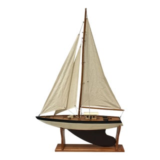 Vintage Wood Model Sail Boat