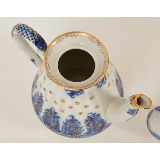 Lomonosov Cobalt Blue & Gold Porcelain Teapot - Image 10 of 11