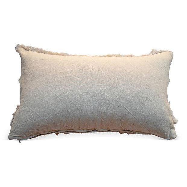Image of Vintage Moroccan Cross Handira Lumbar Pillow Sham