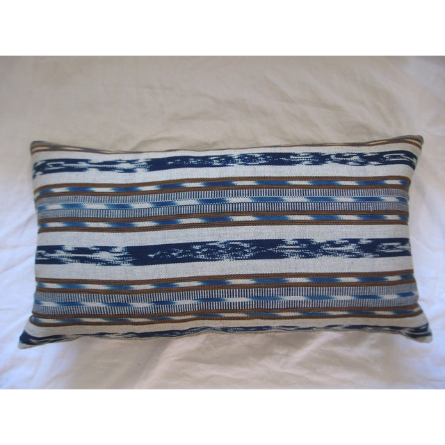 Hand-Loomed Ikat Lumbar Pillow - Image 3 of 4