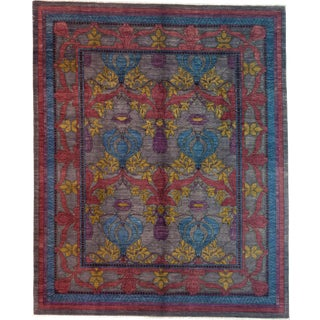"Arts & Crafts Hand Knotted Area Rug - 8'2"" X 9'10"""