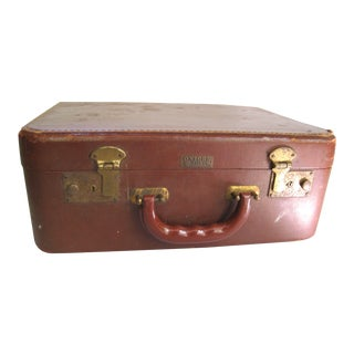 Small Brown Suitcase by Oxford Case Co Brooklyn NY
