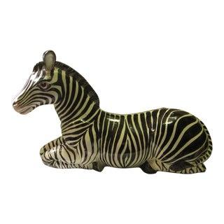 Zebra Italian Ceramic Sculpture
