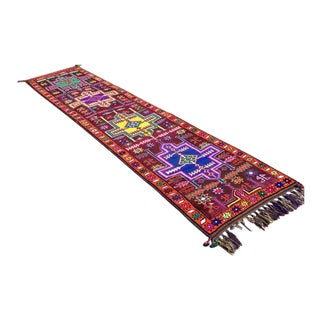 Vintage Hand Knotted Turkish Runner - 2′11″ × 11′11″