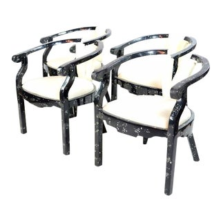 Tessellated Mother of Pearl Chairs - Set of 4
